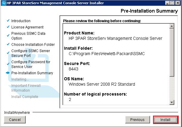 6 pre install summary