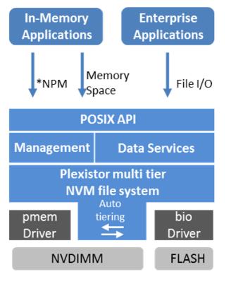 Plexistor architecture