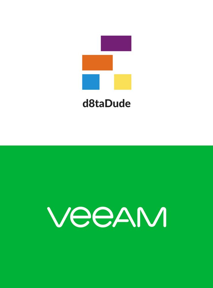 Veeam & d8taDude Webinar logo