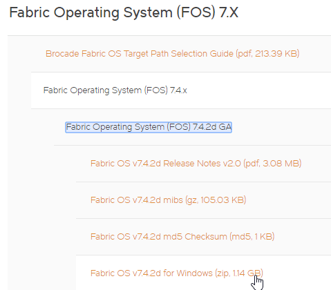 Choosing Brocade FC Switch Firmware