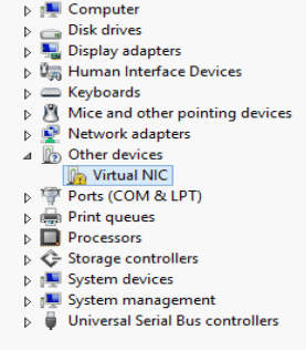 rtual NIC ILO device manager