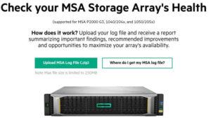 HPE MSA Storage Array Health Check