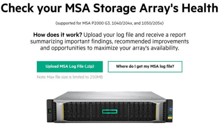 HPE MSA Storage Array Health Check